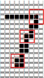 VB6 圖形中的文字進行細化 (Thinning)